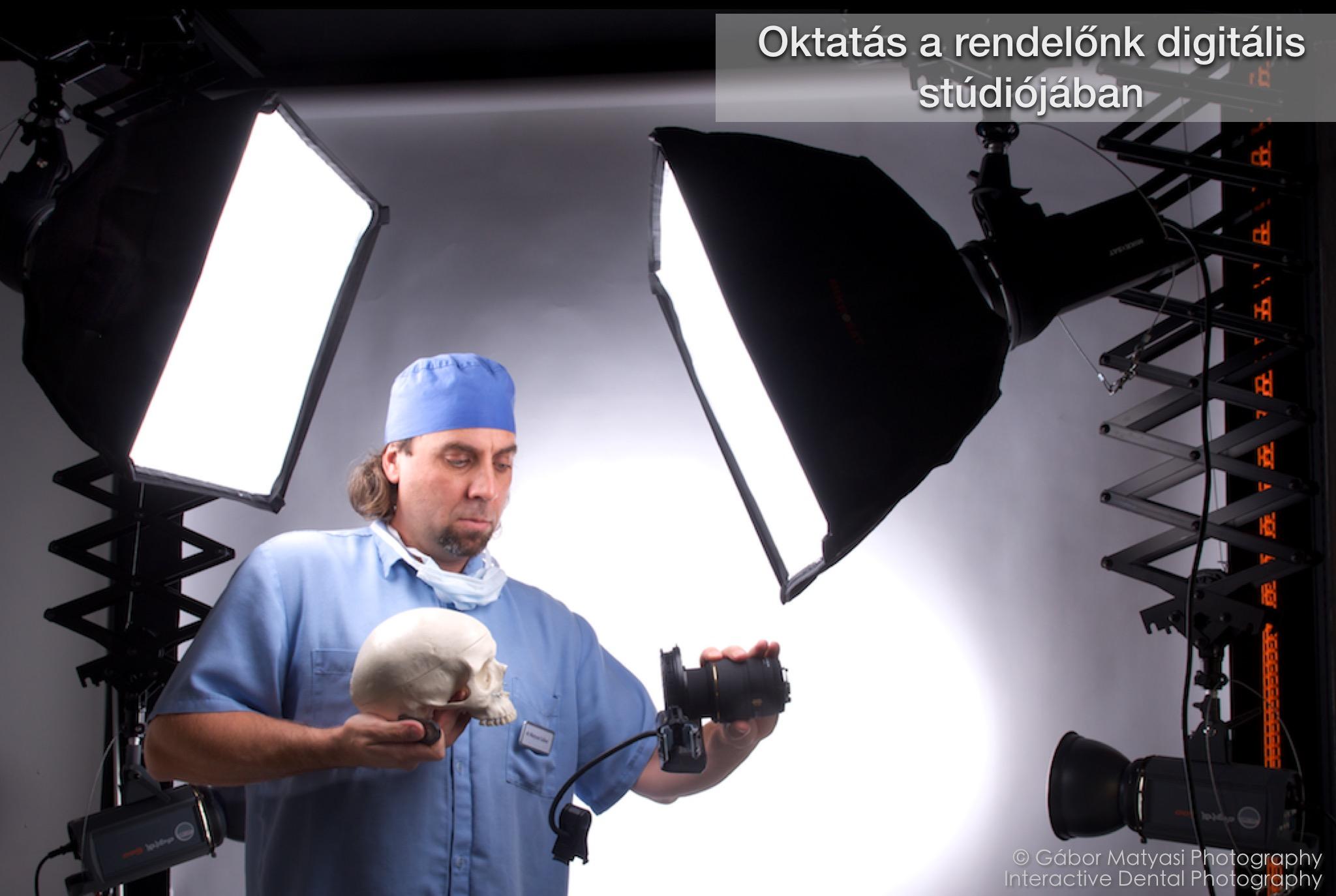 Digitális stúdió és fotóműterem a fogorvosom.hu rendelőjében